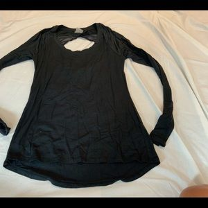 CALIA BLACK OPEN BACK WORKOUT TOP SZ SMALL